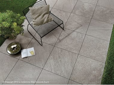 Pavimento per esterni in gres porcellanato effetto pietra BRAVE FLOOR | Pavimento per esterni in gres porcellanato