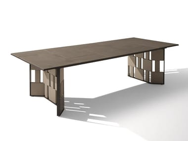 Rectangular marble garden table BREAK