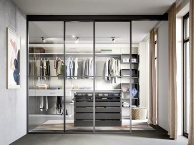 Corner sectional walk-in wardrobe BREAK