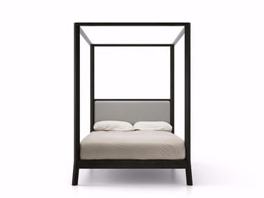 Wooden double bed BREDA | Canopy bed