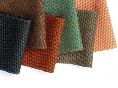 Richly textured woollen upholstery fabric BREEZE FUSION