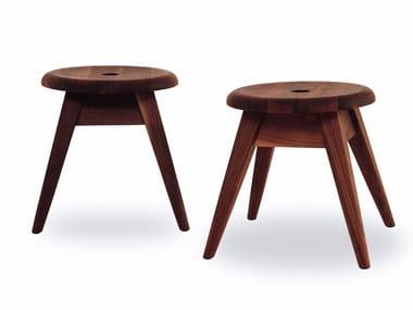 Sgabello in legno massello dadone small big by riva design