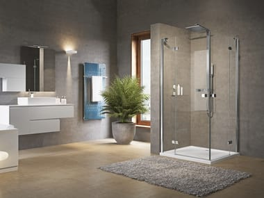 Box doccia angolare con porta a battente BRERA A