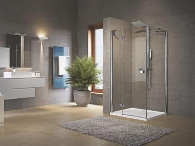 Box doccia angolare con porta a battente BRERA | G+F