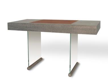 Oak writing desk with drawers BRERA | Writing desk