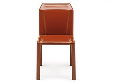 Tanned leather chair BRERA