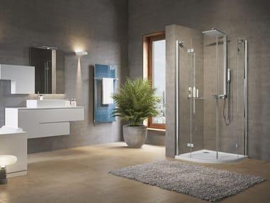 Box doccia semicircolare con porta a battente BRERA | R