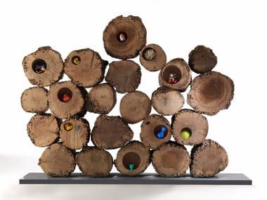 Briccola wood room divider BRICIOLE