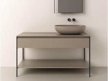 Floor-standing vanity unit with drawers BRIDGE | Vanity unit
