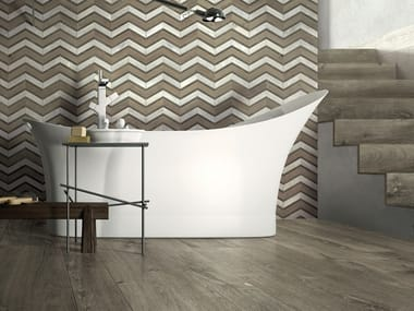 Indoor/outdoor porcelain stoneware wall/floor tiles with wood effect BRIGHT FOREST