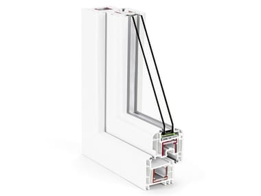 PVC double glazed window PROFILI REHAU 70 MM
