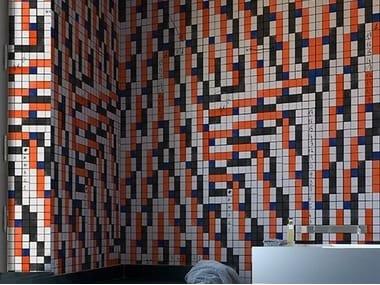 Motif bathroom wallpaper BRION