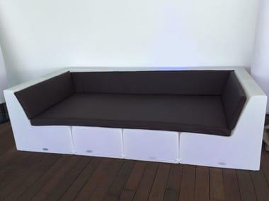 Modular polyethylene sofa BRISA CHILLOUT LOUNGE
