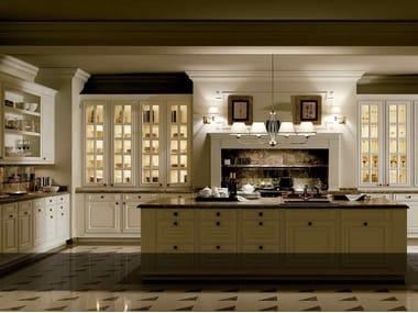 Kitchen with island BRITANIA BLANCO VIEJO