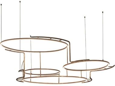 Lampada a sospensione a LED in ottone BROCHE | Lampada a sospensione