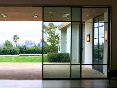 Porta-finestra scorrevole in bronzo architettonico BRONZOFINESTRA B40 | Porta-finestra scorrevole