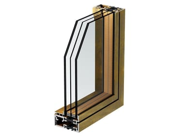 Bronze patio door BRONZOFINESTRA B75 TB