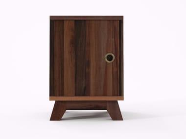 Comodino quadrato in legno in stile moderno BROOKLYN BF30-MH