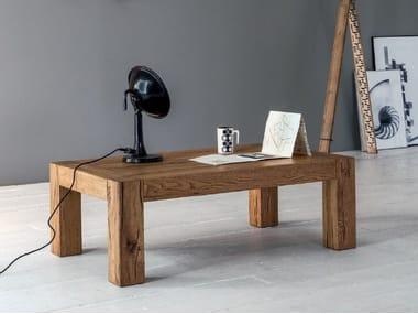 Tavolino basso rettangolare in legno massello BROOKLYN   Tavolino