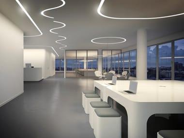 Profilo per illuminazione lineare da soffitto in alluminio estruso per moduli LED BROOKLYN ROUND | Profilo per illuminazione lineare
