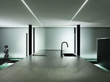 Ceiling mounted extruded aluminium linear lighting profile BROOKLYN TRIM