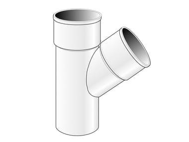Braga semplice IN PVC per tubo pluviale BRSB80 / BRSB100