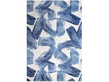 Patterned rectangular cotton rug BRUSH