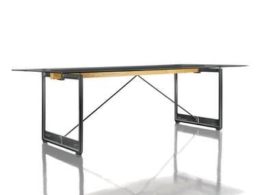 Rectangular table BRUT | Glass table