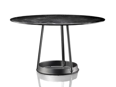 Round table BRUT | Nero Marquina marble table
