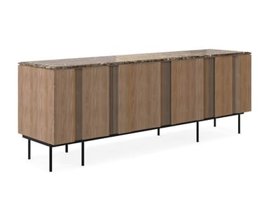 Wooden sideboard with doors BRYANT