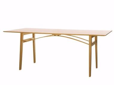 Folding solid wood table BRYGGA | Folding table
