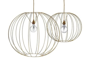 Steel pendant lamp BUBBLE GOLD | Pendant lamp