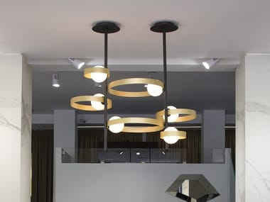 Metal pendant lamp BUBBLE S
