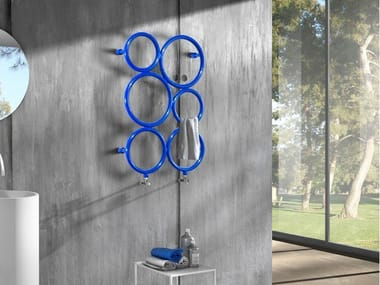 Wandmontierter Handtuchwärmer aus Stahl BUBBLES