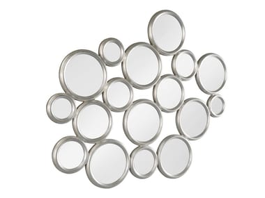 Wall-mounted metal mirror BUBBLES