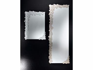 Rectangular wall-mounted mirror BUBBLES | Mirror