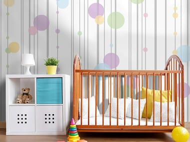 Adhesive washable kids wallpaper BUBBLES