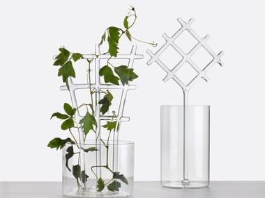 Glass vase BUCOLIC