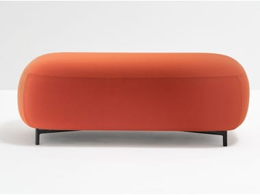 Backless fabric bench seating BUDDY 214
