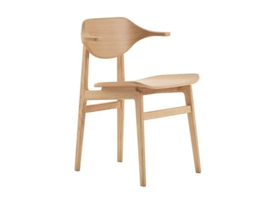Oak chair with armrests BUFFALO | Chair