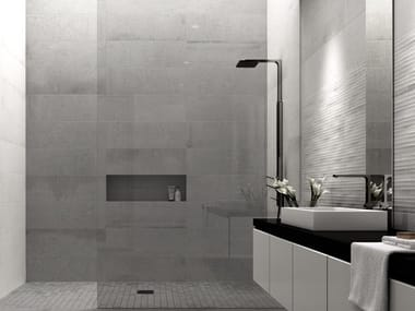 White-paste wall tiles with concrete effect BUILD | Wall tiles