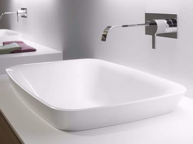 Lavabo da incasso soprapiano in Ceramilux® BULBO