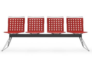 Seduta su barra in alluminio BUSY | Panca