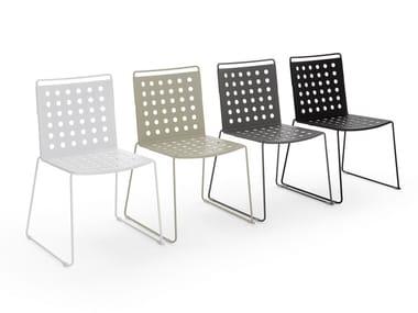 Sedia a slitta in alluminio BUSY | Sedia