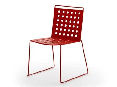 Sled base aluminium chair BUSY | Chair