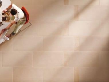 Pavimento/rivestimento in gres porcellanato effetto pietra BUXY - AMANDE