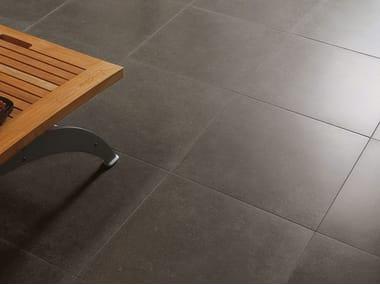 Pavimento/rivestimento in gres porcellanato effetto pietra BUXY - CENDRE