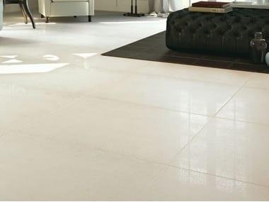 Pavimento/rivestimento in gres porcellanato effetto pietra BUXY - CORAIL BLANC