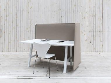 Acoustical desk panel BuzziWrap FrontDesk