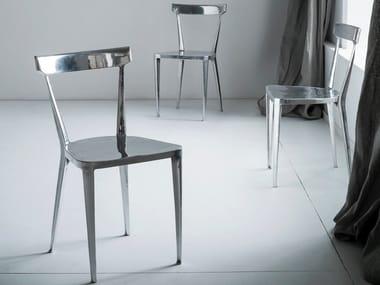 Sedia monolite in fusione di alluminio BYRON